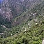 Vägen upp till Machu Picchu.