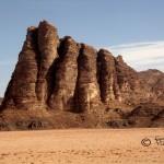 Seven pillars of wisdom i Wadi Rum.
